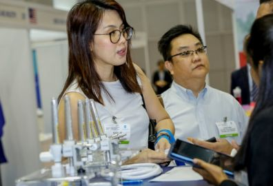 """""""Very satisfied, we did not expect so many visitors from our product area... by 2nd day I have used up all my promotional materials... also visitors from the hospitals... coming back next year."""" Derek Lee - Sales Manager - Macrogen, S. Korea"""