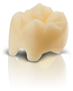 The 3D printed VarseoSmile Crown plus restorations produced in the BEGO CAD/CAM production center are shipped to customers in a post-cured, unpolished condition, free from support structures, for final laboratory finishing.